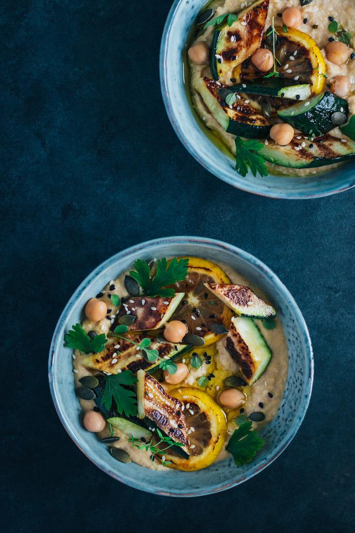 hummus cu zucchini copt
