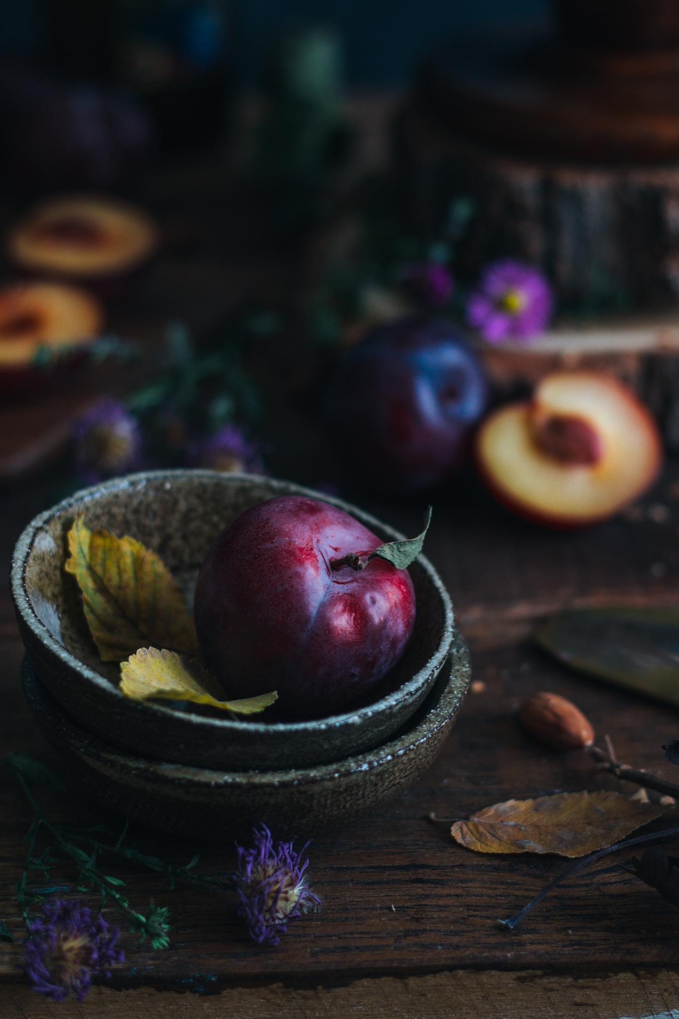 prajitura vegana cu prune