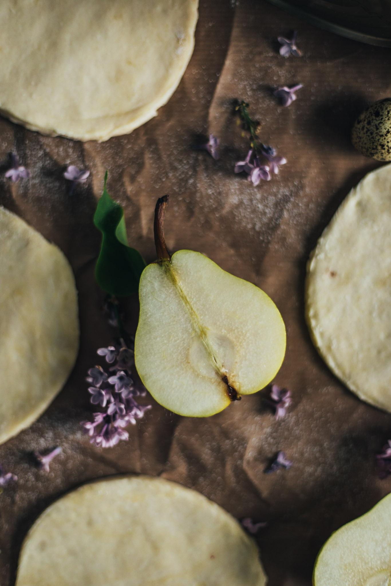 mini galette cu pere
